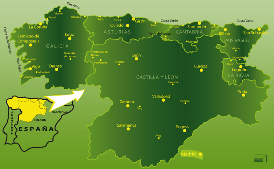 Mapa Norte España Costa.Best Places To Visit In Northern Spain Spain Is More