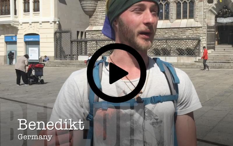 Pilgrims of León: Benedikt from Germany - about the emotional influence of the Camino